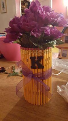 Pencil base w/flower Pen's Teacher's Gift for the last day of School