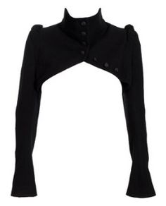 Cropped bolero jacket by Ann Demeulemeester