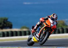 Phillip Island, AUS - Max Biaggi took first place in Race 1, came all the way back from last after nearly crashing to take second in Race 2, very exciting! #superbike