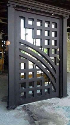 Front Gate Design, Gate Wall Design, Grill Gate Design, Balcony Grill Design, Steel Gate Design, Door Design, Front Gates, House Front Gate, Modern Main Gate Designs