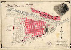 Santiago 1600 Cartography, Arch, Lost, Vintage, Maps, Santiago, Historical Photos, Antique Photos, Historia