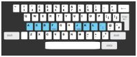QWERTY Keyboard: click on lessons then tutorial for the old fashioned typing practice like the frftfgfbfv fjjjff mess we did in Mrs. Mussleman's keyboarding class in high school.