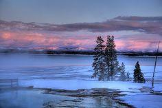 Yellowstone Lake, in the winter