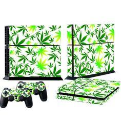 ModFreakz™ Console/Controller Vinyl Skin Set - Pot Leaf Plant for PS4 Original #playstation #vinyl #console #accessories #diy
