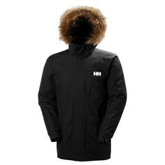 Helly Hansen Men's Dubliner Parka Classic waterproof, windproof and breathable parka for everyday use. Insulated with PrimaLoft Black features include multiple Helly Hansen, Snowboard Style, Adidas Jacket, Bomber Jacket, Jacket Men, Jacket Style, Snowboarding Men, Parka Coat, Wraps