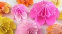 【折り紙】ピンポンマム(菊)とリース Pom pom mum &Wreath