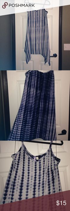 NWT Francesca's dress Beautiful Francesca's purple tie dye dress! It's longer in some areas on the bottom but still perfect and lightweight for spring and summer! Price is firm Dresses
