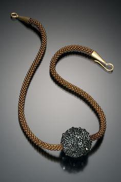 Beaded Bead on Cord