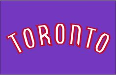 Toronto Raptors Jersey Logo on Chris Creamer's Sports Logos Page - SportsLogos. A virtual museum of sports logos, uniforms and historical items. Sports Logos, Toronto Raptors, Nba, Logo Design, Neon Signs, Game, History, Historia, Gaming