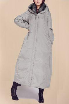 Hoodied Long Women Winter Down Coat Thick Long Down Coat Side Pockets Long Down Jacket Women Down Coat Custom Made Any Siz