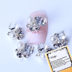Ladies Beauty Box Crystal Big Crystal Square Rhinestone Alloy 3D Nail Art Decorations 10 Pcs * Learn more by visiting the image link.(It is Amazon affiliate link)