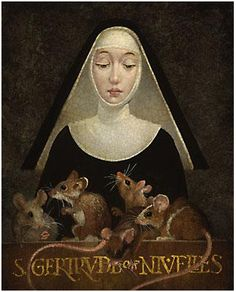 """LL writes: """"My Aunt Kathy sent me a magnet of St. Gertrude of Nivelles, the patron saint of cats. Is she a Catholic saint?"""" There was indeed a Saint Gertrude of Nivelles who … Read the rest. Patron Saints, Catholic Saints, Religious Icons, Religious Art, Patron Saint Of Cats, Famous Saints, Workshop, All Saints Day, Christian Symbols"""