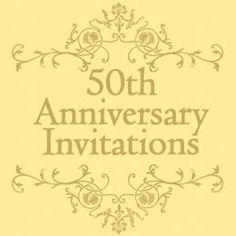 Free 50th Wedding Anniversary Invitations Templates