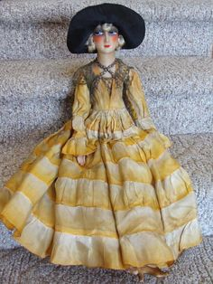 """French Boudoir Doll, Marked """"France"""" on Shoe"""