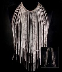 This statement piece body jewelry is designed with cascading fringe tassels. This piece can recreate any boring outfit into a new look. $44.99
