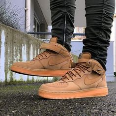 premium selection 94806 e1268 ... force 1 flax high on feet Shop our feed, hit link in bio. What did you  wear today Nike Air .