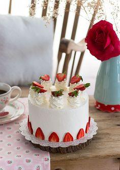 Tarta De Fresas Y Cheesecake