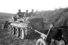 bmashina: Captured BT-7 converted by the Germans into armoured artillery tractor