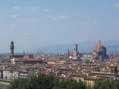 "Piazzale Michelangelo - The Piazzale Michelangelo overlooks the city from its perch in the hills above the Oltrarno. It's either a good hike up to the top or a bus route through Florence's less-scenic neighborhoods to get there. For those who hike, you'll get the chance to wander through the Oltrarno (which is the neighborhood on the other side of the Arno river – the name means ""beyond the Arno""), which is often overlooked by tourists who cluster around the Duomo."