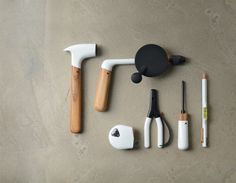 This unique set of hand tools from ChauhanStudio -a London based industrial design practice founded by Tej Chauhan