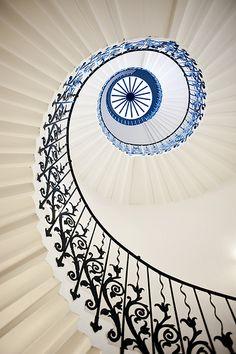 Tulip Stairs, Greenwich - 7896 | Flickr - Photo Sharing! http://www.pinterest.com/watashima/beautiful-ceiling/