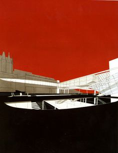 Bernard Tschumi Architectural Design 64 March 1994 Source by Paper Architecture, Architecture Visualization, Architecture Graphics, Architecture Drawings, Architecture Details, Modern Architecture, Bernard Tschumi, Autocad, Deconstructivism