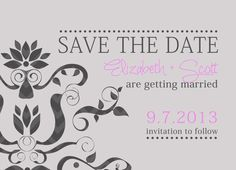 Save the date by cindyhamiltondesign on Etsy, $15.00