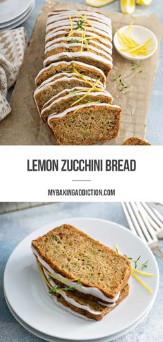 Classic zucchini bread is made a little more bright and delicious with a pop of citrus flavor in this Lemon Zucchini Bread. Don't forget the easy glaze for that extra hit of lemon flavor and sweetness!