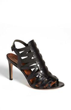 8344dfa9b61a41 Via Spiga  Tafari  Sandal Black Calf 5 M gifters.com black dress shoes