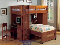 JualTempat Tidur Tingkat Anak Laki-Laki Klasik Jati Michel Murah…