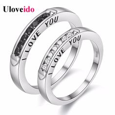 Find More Rings Information about Uloveido Love Couple Rings for Men and Women Silver Plated Jewelry Engagement Male Ring Female Anel Valentine's Day Gift Y300,High Quality ring twist,China ring ups Suppliers, Cheap y300 from D&C Fashion Jewelry Buy to Get a Free Gift on Aliexpress.com