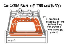 POLITICAL CARTOON: The Chicken Run of the Century| Pacquiao vs. Mayweather - GMA News Online Special Coverage