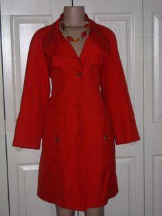 Misty Harbor Orioles Orange lite Weather Coat by RozzCloset, $10.00    (SOLD)