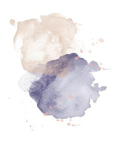 (Ad) Beautiful watercolor backgrounds and brushstrokes for all your graphic design needs! A very romantic navy, blush and gold collection, perfect for wedding stationery! Abstract Watercolor Art, Watercolor Design, Watercolor Background, Watercolor Print, Watercolor Paintings, Watercolor Texture, Simple Watercolor, Pink Abstract, Abstract Paintings