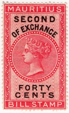 The Revenue Stamp Specialist Vintage Stamps, British Colonial, Queen Victoria, Stamp Collecting, Mauritius, Ephemera, Vivid Colors, Poster, Collections