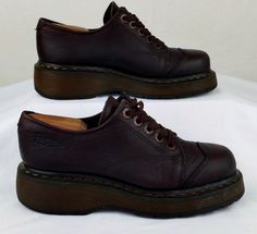 DR MARTENS BROWN LEATHER OXFORD UK 5 mens 6 womens 7 EXCELLENT USED #DrMartens #oxford