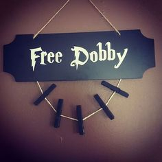 """""""Free Dobby"""" Spare/Missing Sock Laundry Room Sign"""