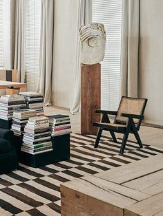 Interior Design Addict: Pierre Jeanneret chair, teak and cane, Home Interior, Interior Design Living Room, Interior Styling, Interior Architecture, Interior And Exterior, Interior Decorating, Luxury Interior, Decorating Ideas, My Living Room