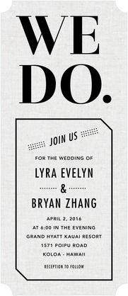 modern wording -  wedding invite