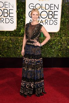 Claire Danes in Valentino Golden Globe Awards 2015