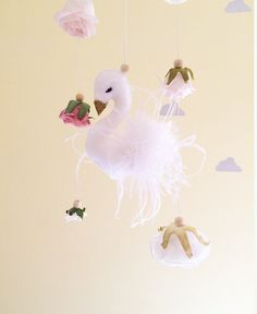 A personal favourite from my Etsy shop https://www.etsy.com/au/listing/508500573/baby-mobile-floral-swan-nursery-mobile