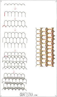 Doodling узоры пошагово | 42 фотографии