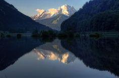 Der Watzmann im Morgenlicht