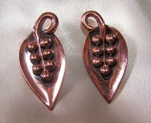 Vintage Designer Rame' Copper Earrings Signed 1950s