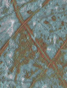 Galileo view of Europa's Conamara Chaos region which is just below the intersection of the 2 faults.