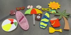 Beach Bag Paper Dolls Beach Busy Book set by cabincraftycreations