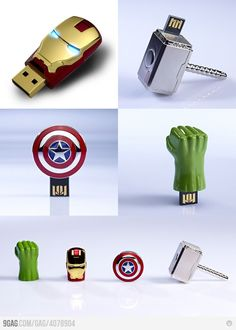 Funny pictures about The Avengers USB Sticks. Oh, and cool pics about The Avengers USB Sticks. Also, The Avengers USB Sticks photos. The Avengers, Avengers Room, Avengers Shirt, Avengers Superheroes, Pen Drive Usb, Usb Flash Drive, Iron Man, Promo Flyer, Whatsapp Tricks