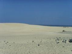 Playa de Corralejo en Fuerteventura, España