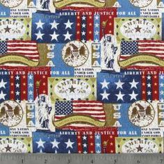 America the Beautiful Stars on Navy Cotton Calico Fabric Patchwork Fabric, Cotton Quilting Fabric, Navy Fabric, Jacquard Fabric, Calico Fabric, Fabric Shop, Hot Pads, American Flag, American Pride