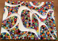 Quilled A4 canvas, 'Kaleidoscope'